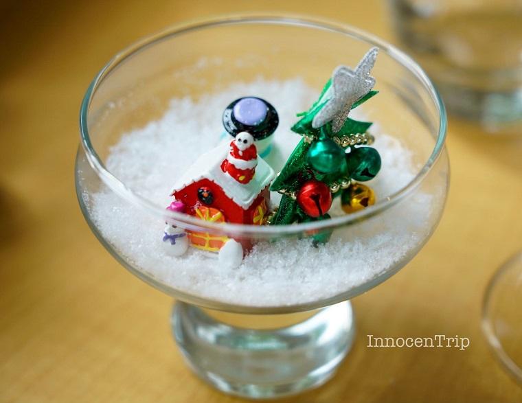 クリスマスのテーブル装飾