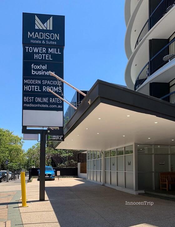 マディソンホテル タワーミル入口