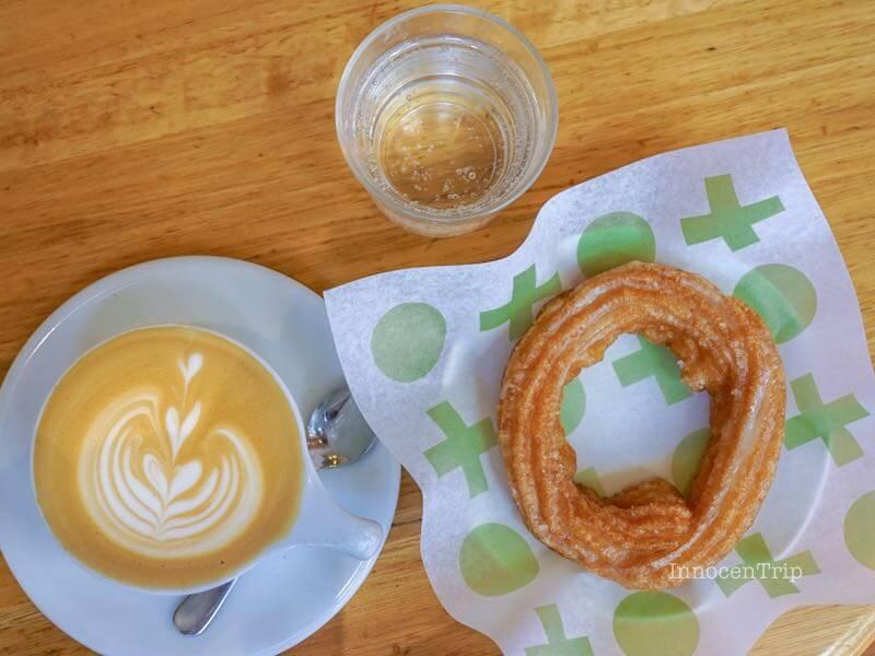 ドーナツとコーヒーと炭酸水